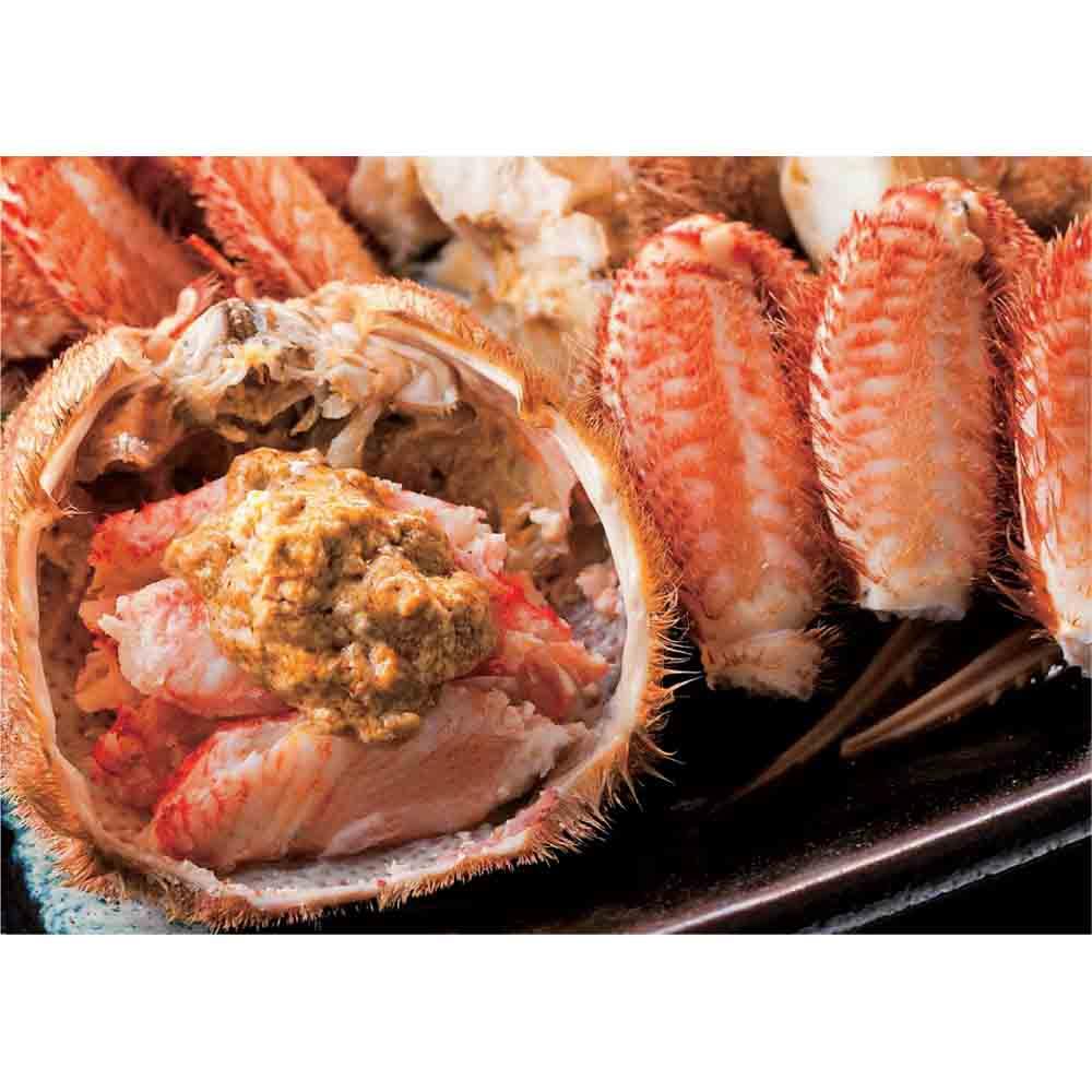 北海道えりも産 蒸し活毛がに 大(約500g)×1ハイ 【通常お届け】 身とみそを味わった後は酒を注いで、甲羅酒で仕上げ。
