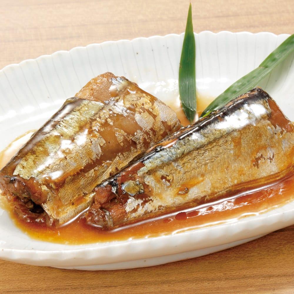 三陸の煮魚惣菜4種セット (4種×3袋 計12袋) 【盛り付け例】さんまの生姜煮