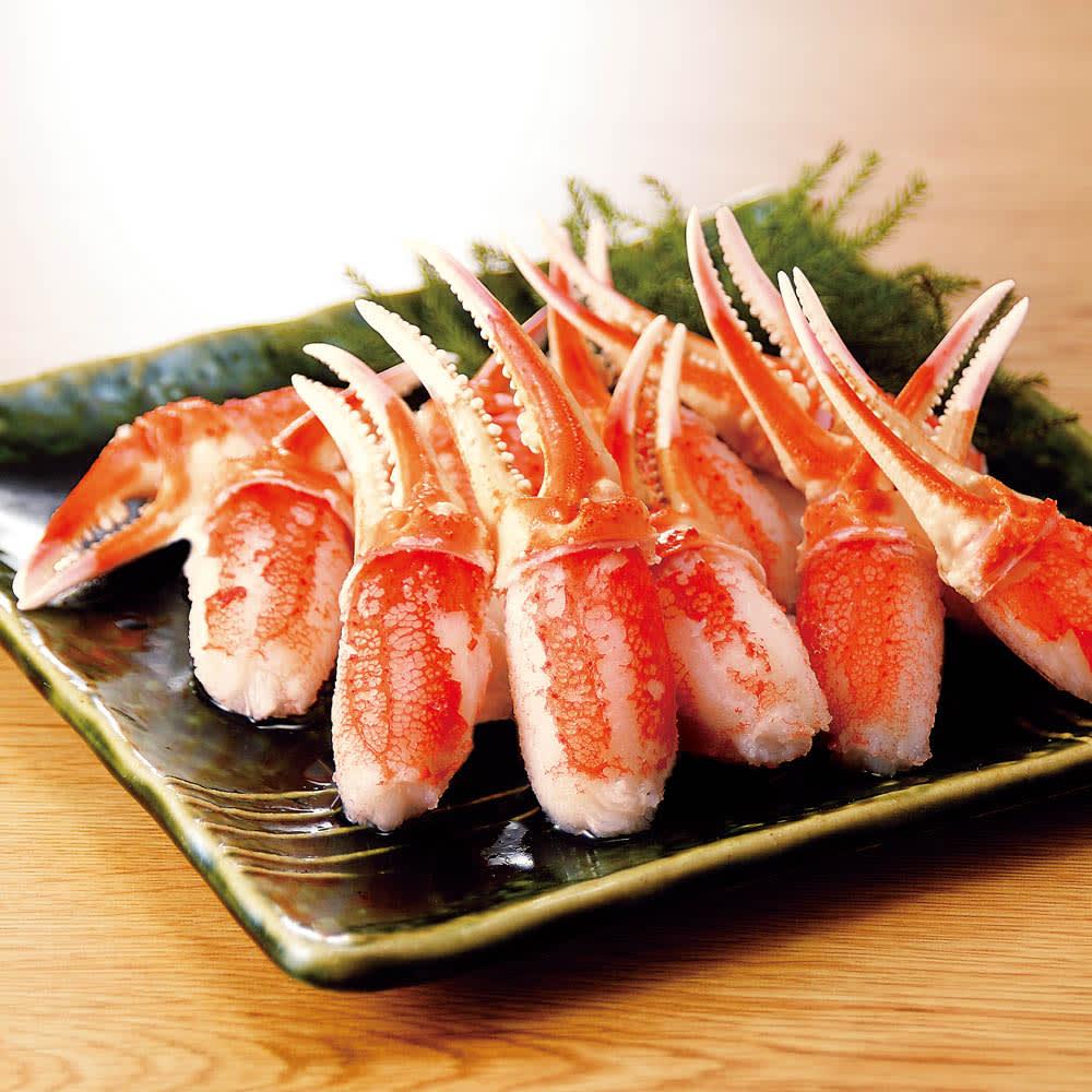 グルメ 食品 魚 海産物 海産生鮮品 ボイルずわいがに 二本爪ポーション (1kg) FK4430
