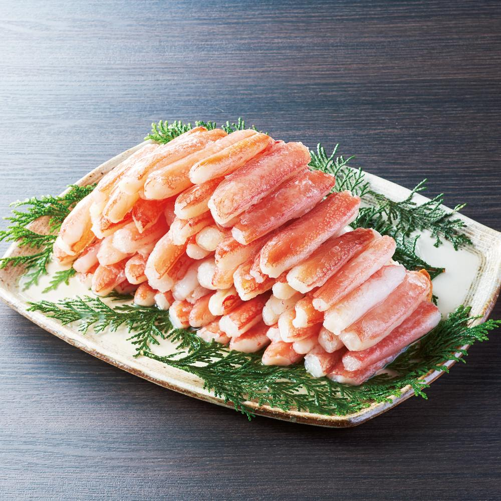 グルメ 食品 魚 海産物 海産生鮮品 生ずわい棒ポーション(折れ) (1kg) FK4605