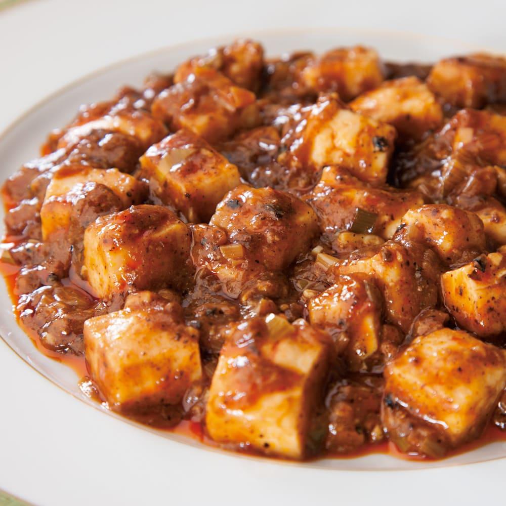 陳建一 本格四川麻婆豆腐 (150g×6袋) 【盛り付け例】ひとくち食べたら止められない、辛さと旨みが絶妙な、本場の味をご家庭で