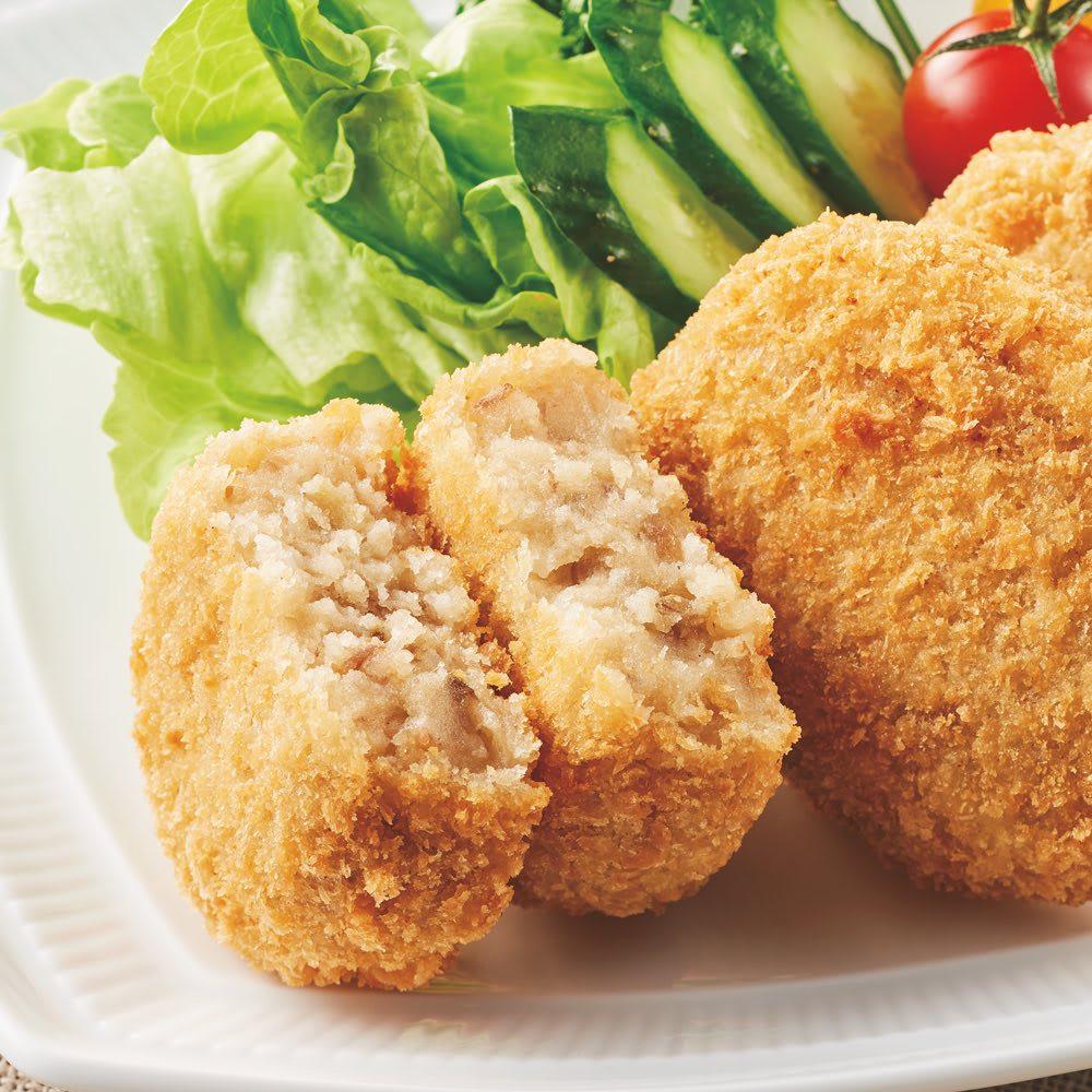大阪「洋食Revo」 人気惣菜セット 【盛り付け例】牛スジコロッケ
