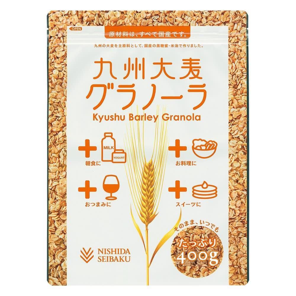 九州大麦グラノーラ (400g×5袋) 商品パッケージ