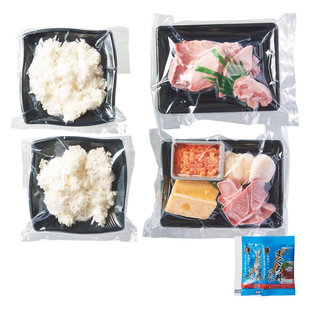 「築地ホクエイ」 魚河岸丼2種(贅沢鮪丼・4種海鮮丼) 2セット 商品パッケージ