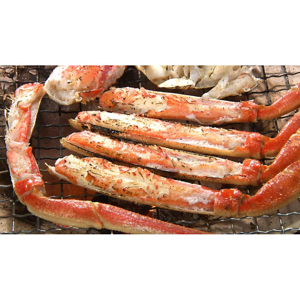 ワケありズワイガニの脚 3Lサイズ (3kg) たっぷり3kgあるから、焼いたり、鍋にしたり、料理にも贅沢に使えます。 [調理例]焼きガニ