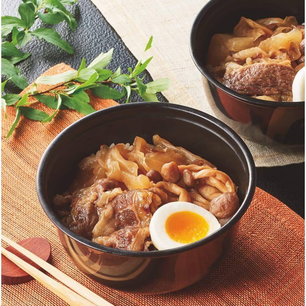 「祇園さゝ木」 牛すき煮丼 (190g×5食) 【盛り付け例】