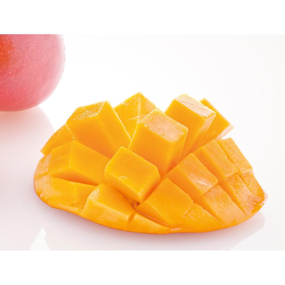 宮崎県西都産 dの完熟マンゴー (約550g×2玉) フルーツ