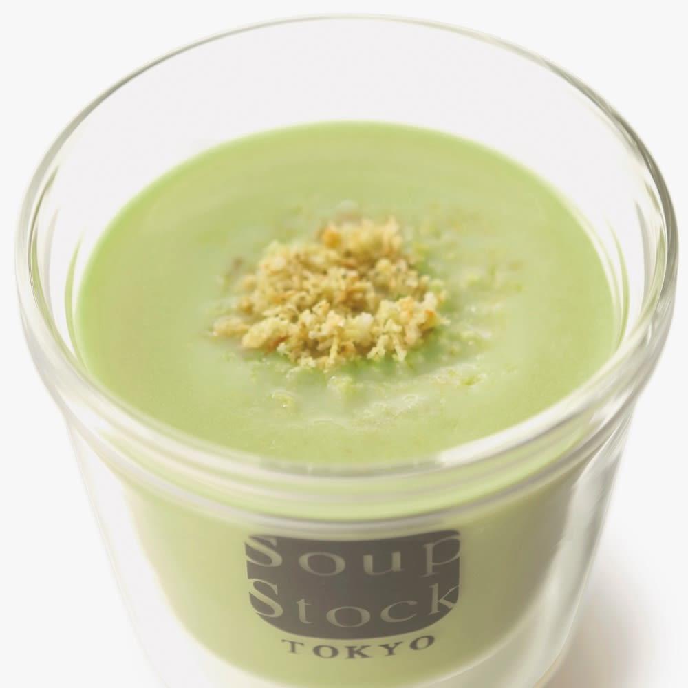 Soup Stock Tokyo(スープストックトーキョー) 冷たいスープと人気のスープセット(8種) 【通常お届け】 【盛り付け例】えんどう豆の冷たいグリーンポタージュ(※カップはセットに含まれません。)