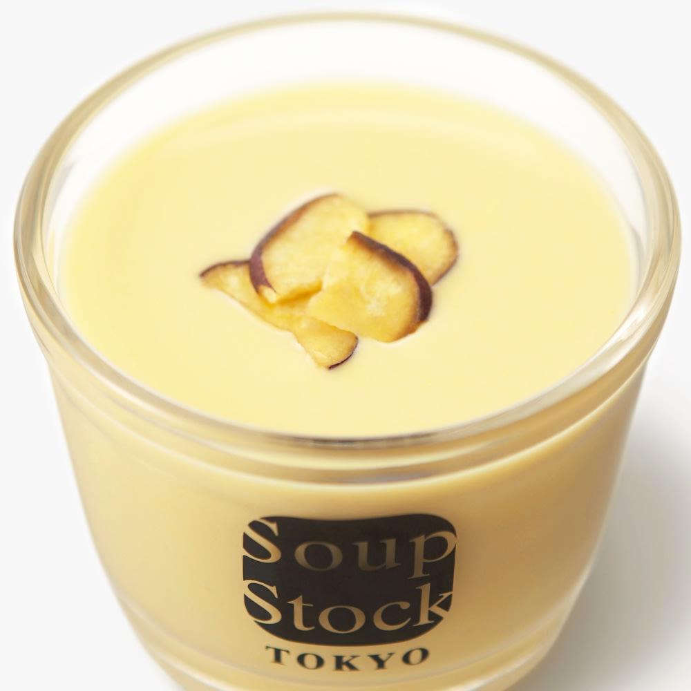 Soup Stock Tokyo(スープストックトーキョー) 冷たいスープと人気のスープセット(8種) 【通常お届け】 【盛り付け例】とうもろこしとさつま芋の冷たいスープ(※カップはセットに含まれません。)