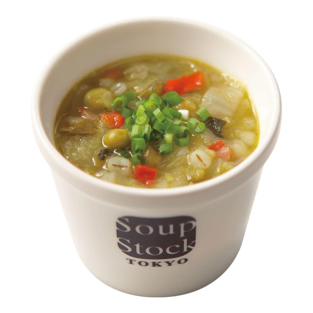 Soup Stock Tokyo(スープストックトーキョー) スープ詰合せ(計19袋) 緑の野菜と岩塩のスープ(盛り付け例)