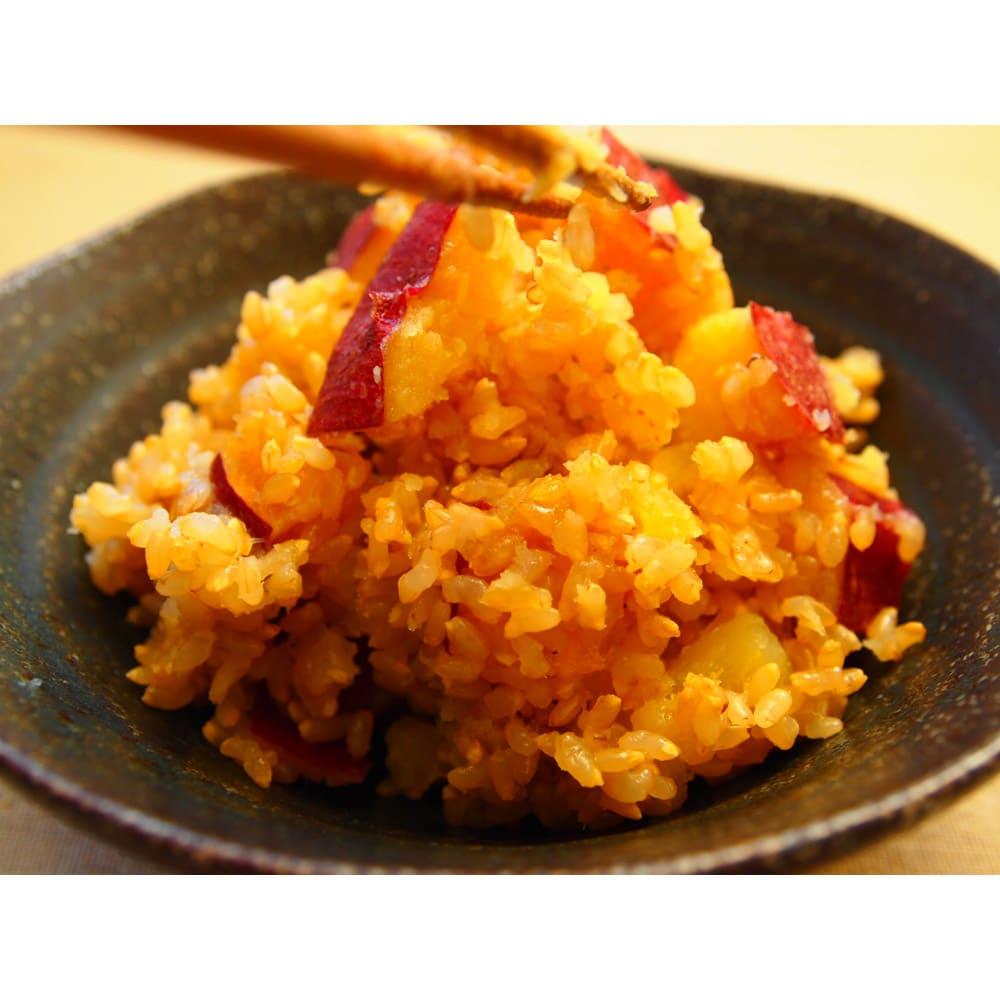 長兵衛玄米 (1kg×3袋) 【お得な定期便】 調理例:さつまいもの炊き込みごはん