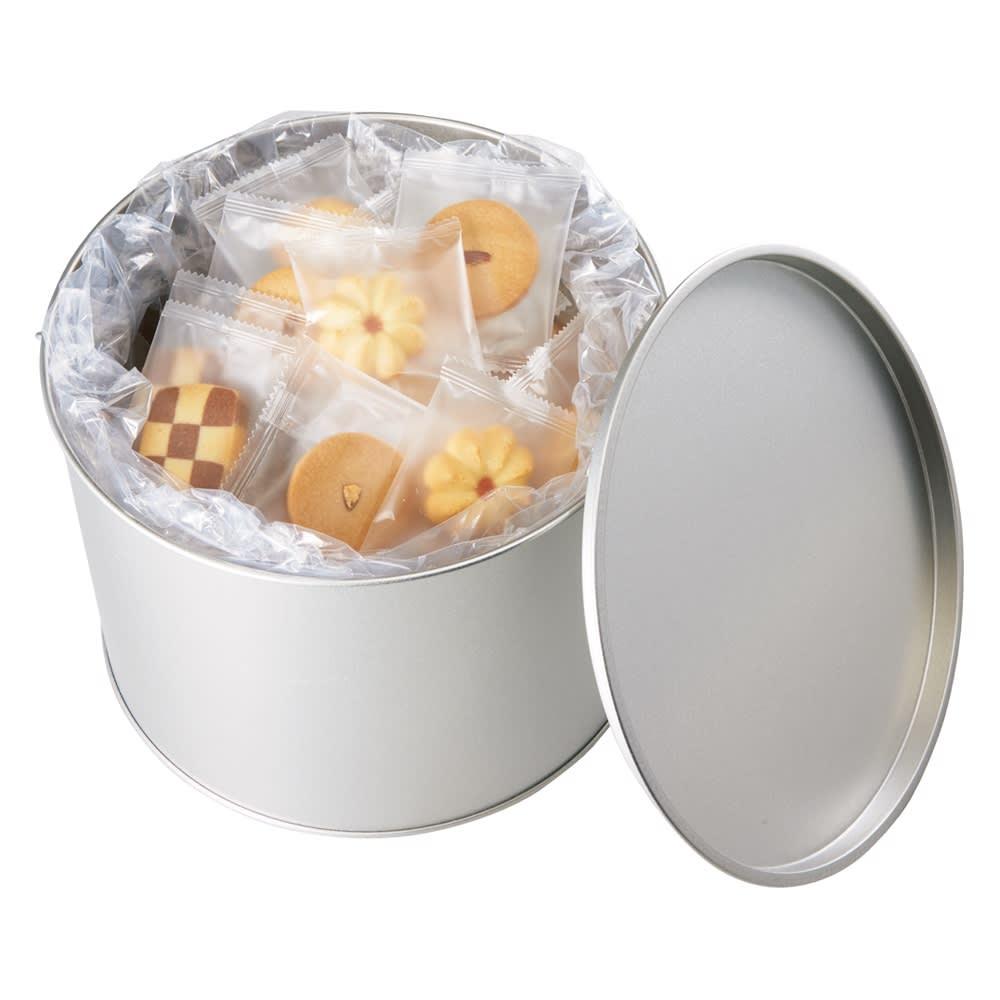 バケツ缶入りホテル仕様クッキー (8種 計80枚) 商品パッケージ
