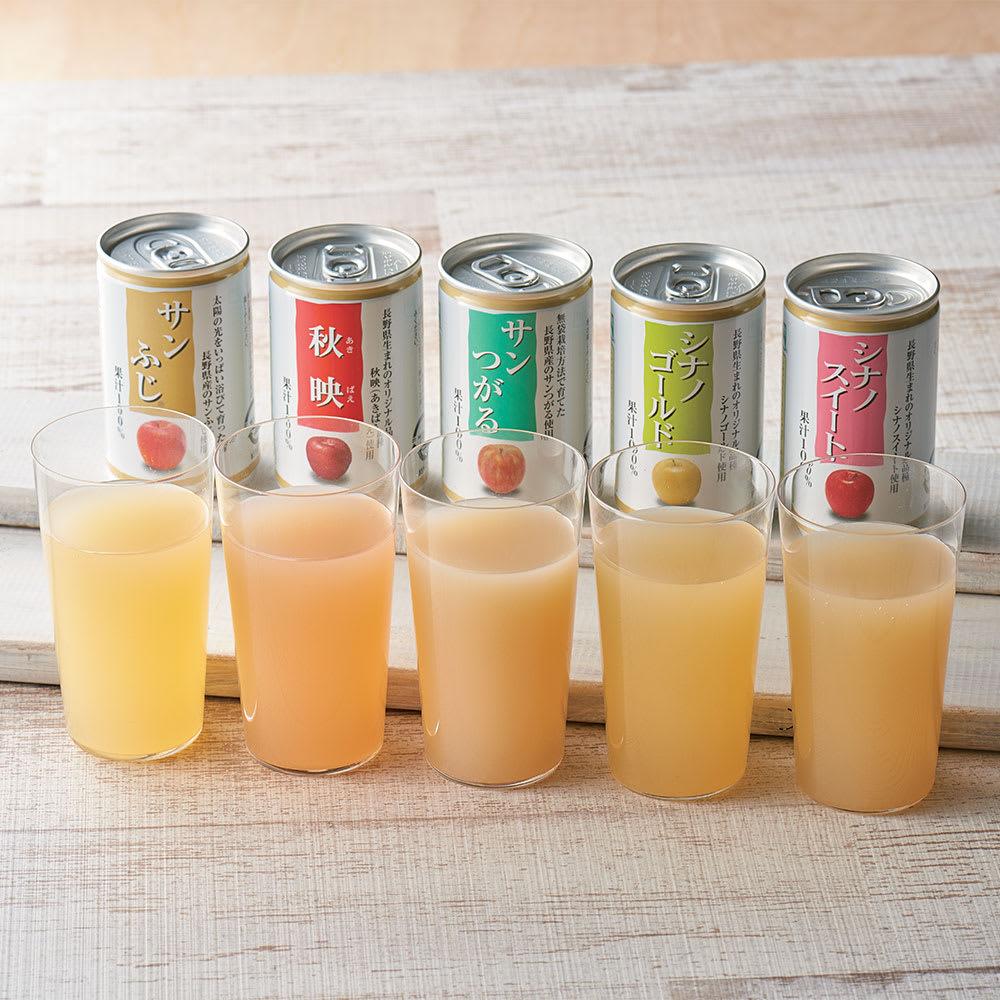 長野産 りんごジュース飲み比べ (5種 計30缶)