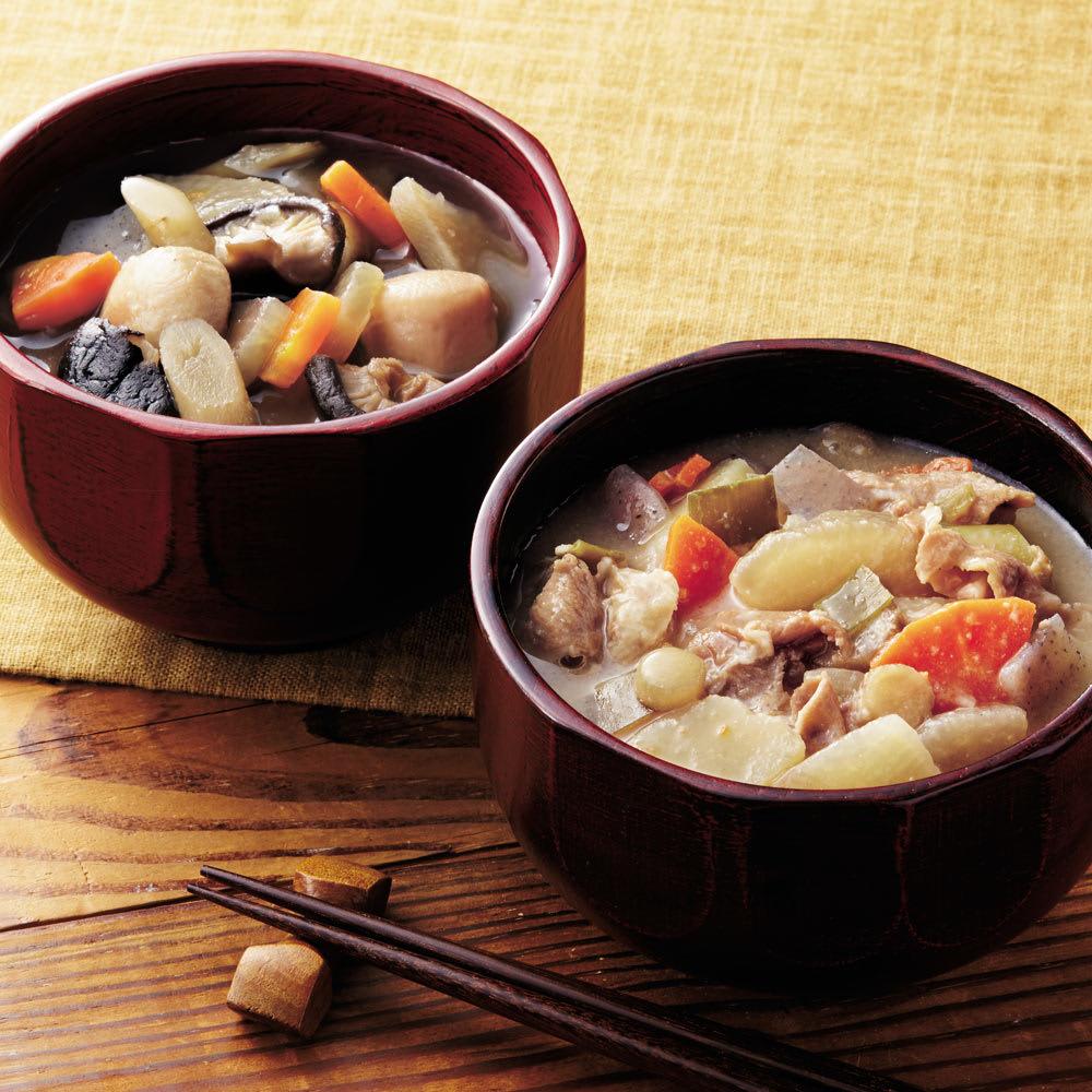 イザメシ まんぞく豚汁&ほっこりけんちん汁 (2種計12袋) 和惣菜