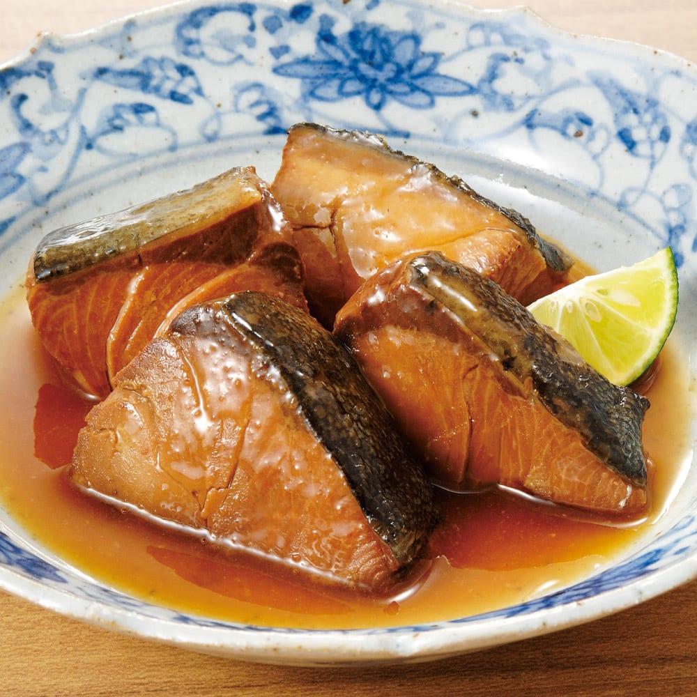 三陸の煮魚惣菜4種セット (4種×3袋 計12袋) 【盛り付け例】ぶりの生姜煮