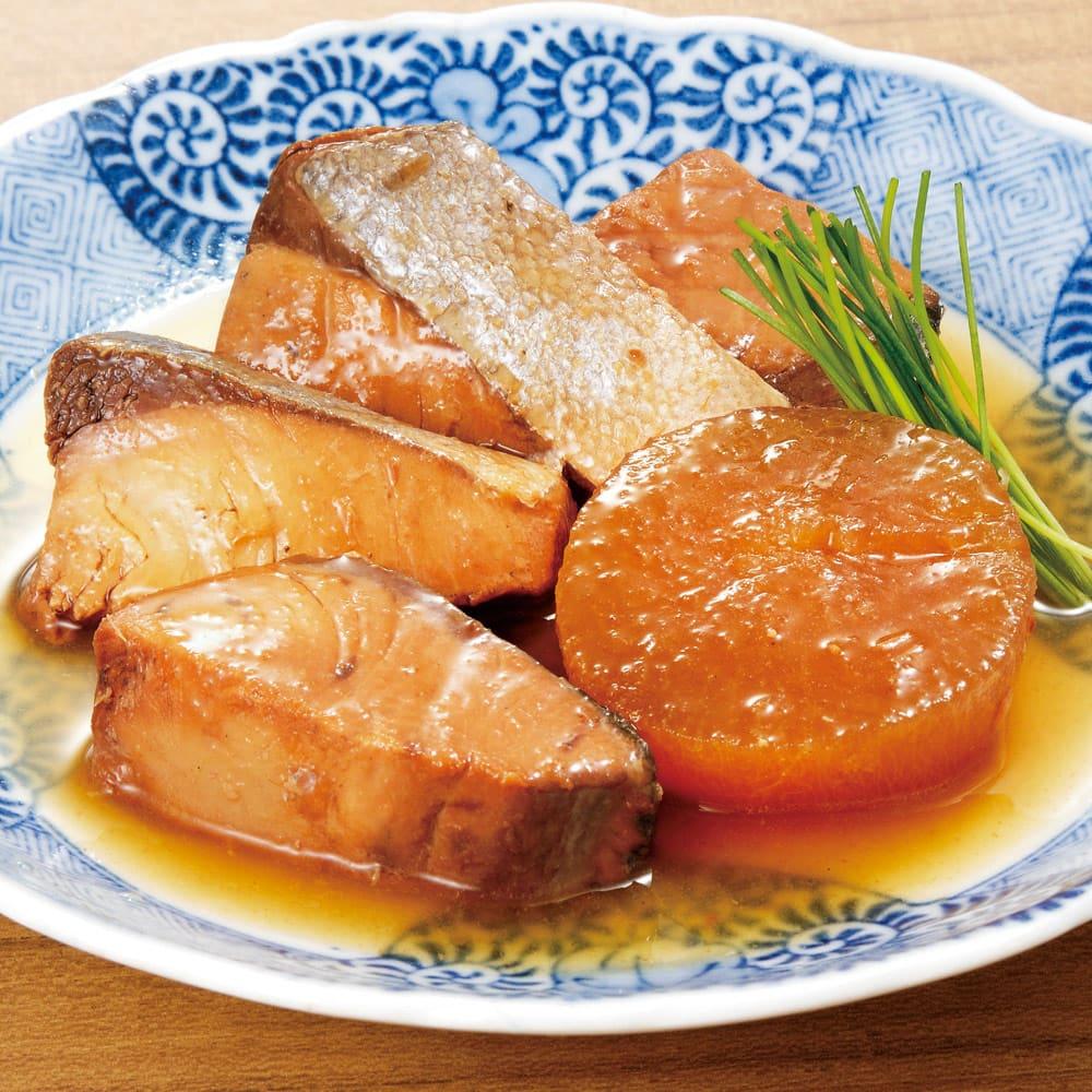 三陸の煮魚惣菜4種セット (4種×3袋 計12袋) 【盛り付け例】ぶり大根