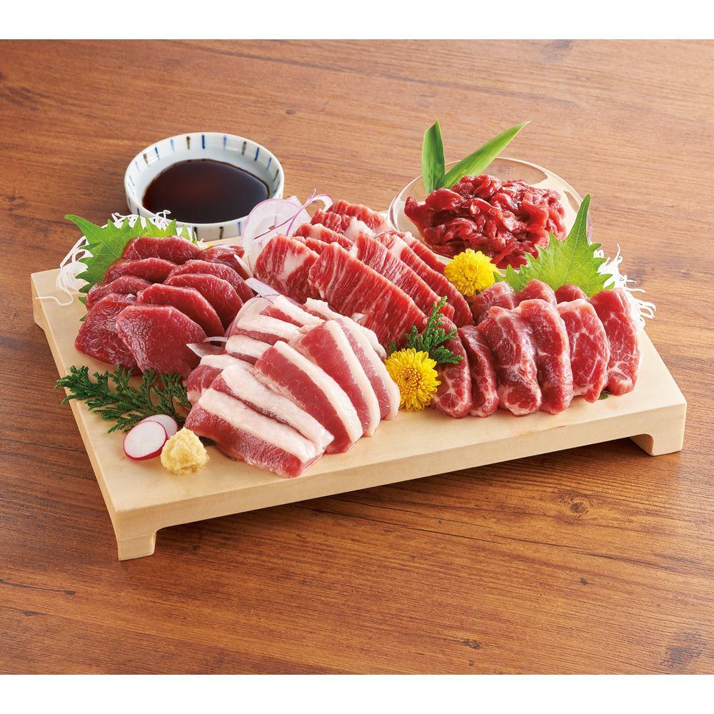 特選 ふじ馬刺し食べ比べセット (5種 計5袋) 肉