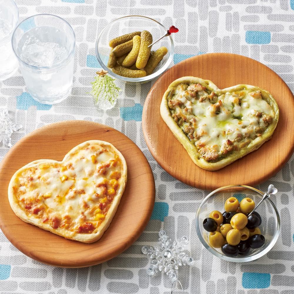 デリシャエール・2種のグラタンハートピザ (計4枚) パン