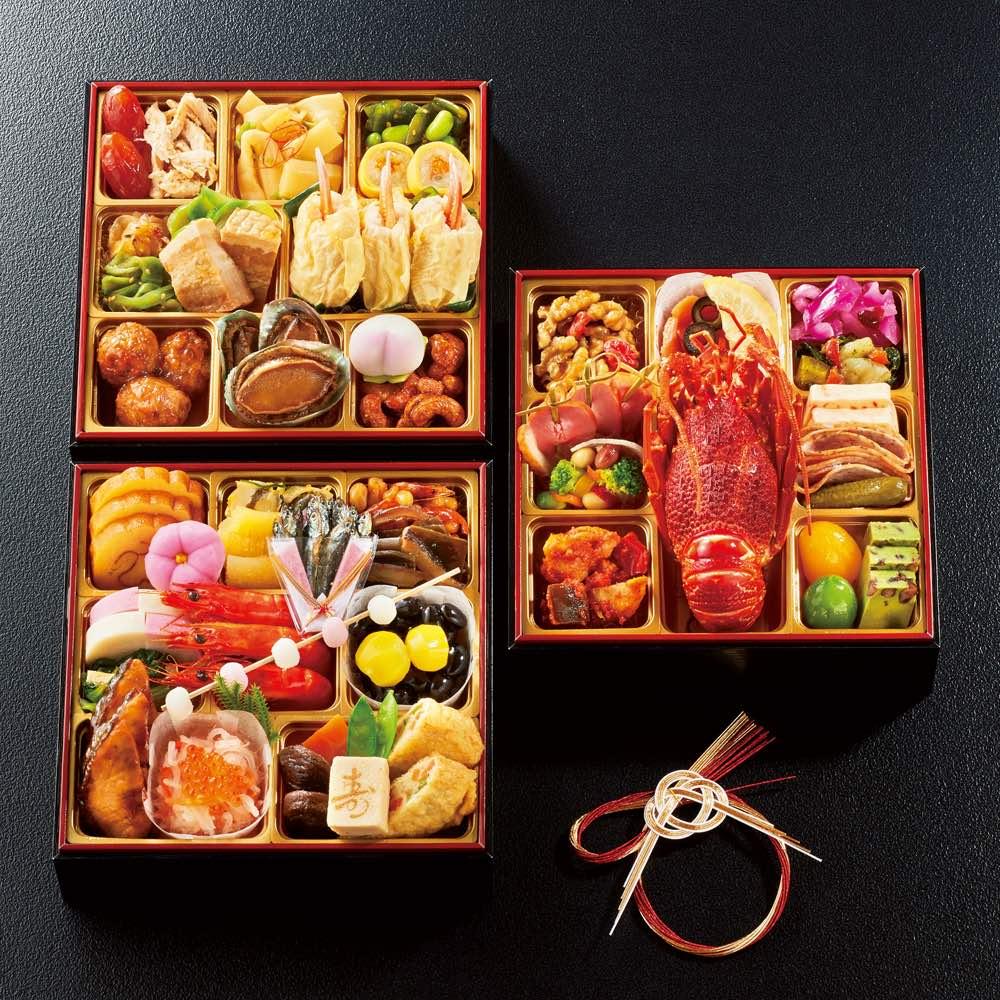 祇園和洋中おせち「たつみ」 三段重 (約3~4人前) 和惣菜