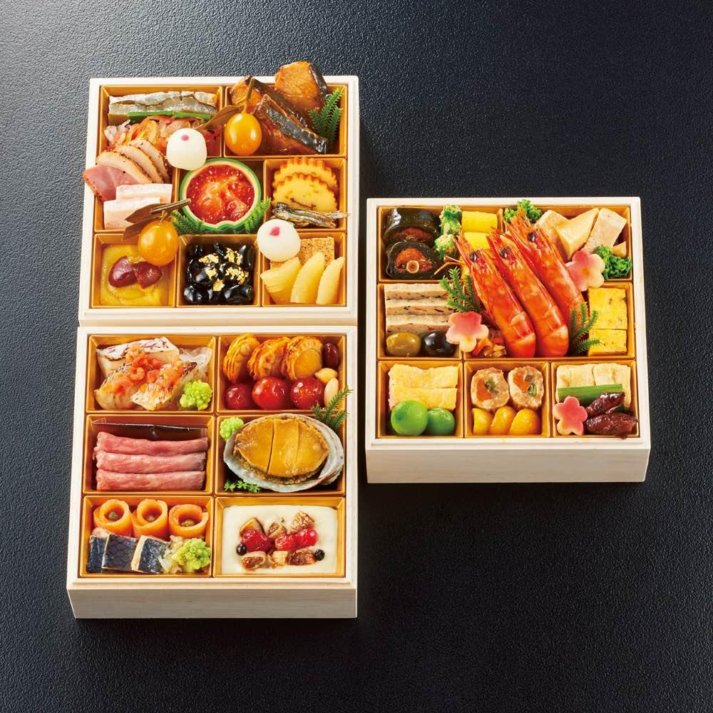 「千里山荘」 和洋三段重 (約2~3人前) 和惣菜