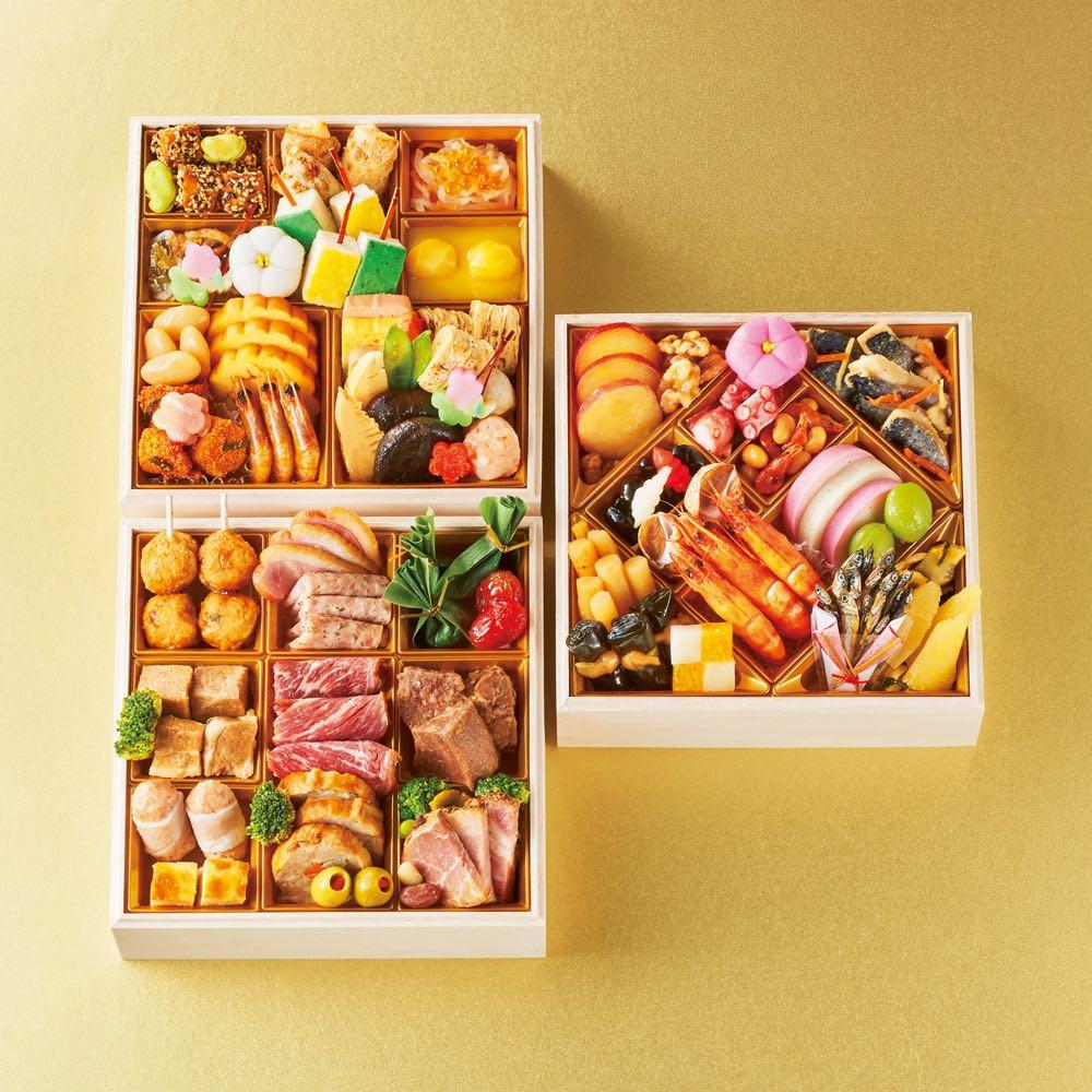 グルメ 食品 お惣菜 和惣菜 湯島たけうち監修 旬菜と肉料理のおせち (約3人前) FJ7827