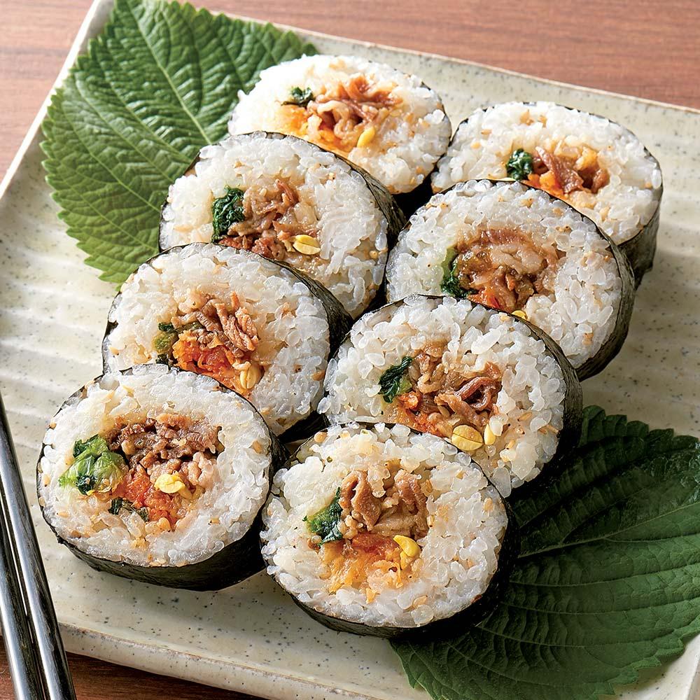 韓国風太巻 牛肉入ナムルキンパ (300g×4本) 雑穀・米加工品