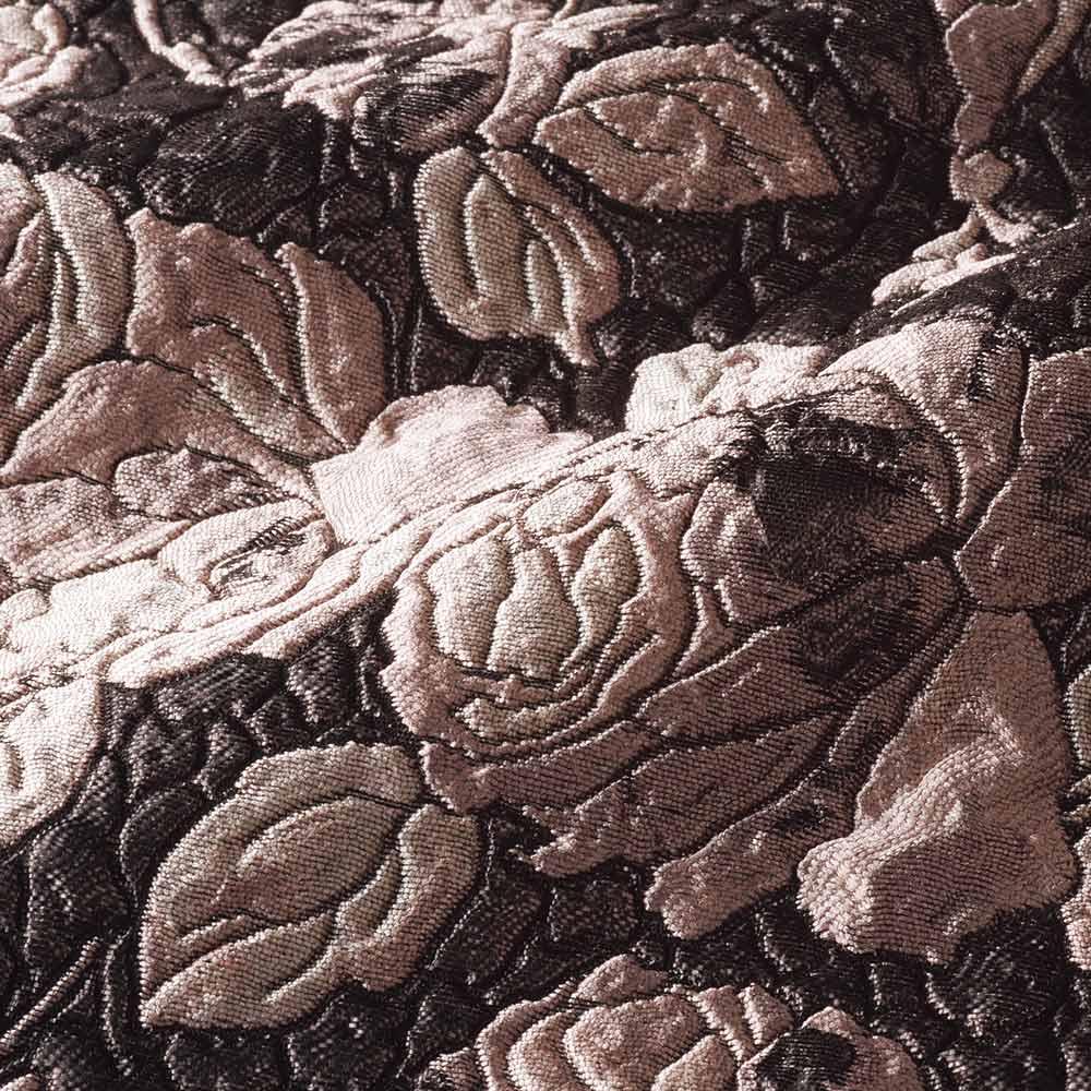 イタリア素材 ローズ柄 ふくれジャカード ワンピース 生地アップ