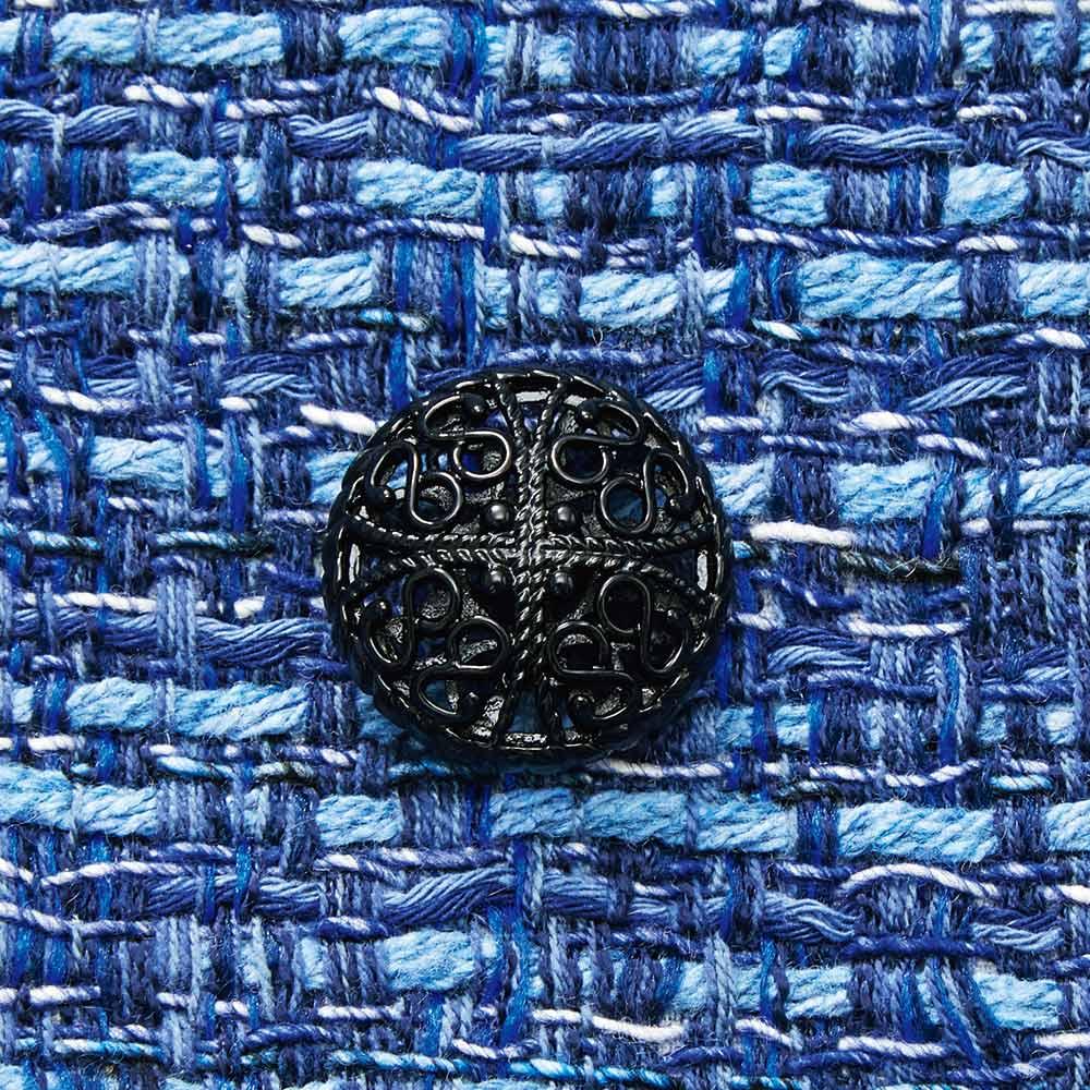 マリア・ケント社 ツイード スーツセット(ジャケット+ワンピース) ジャケット ボタン部分