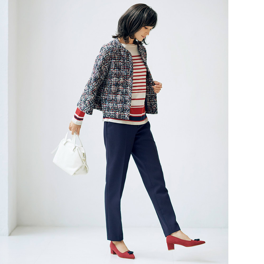 ストレッチ ダブルクロス スーツセット(ジャケット+パンツ) コーディネート例(パンツのみ)