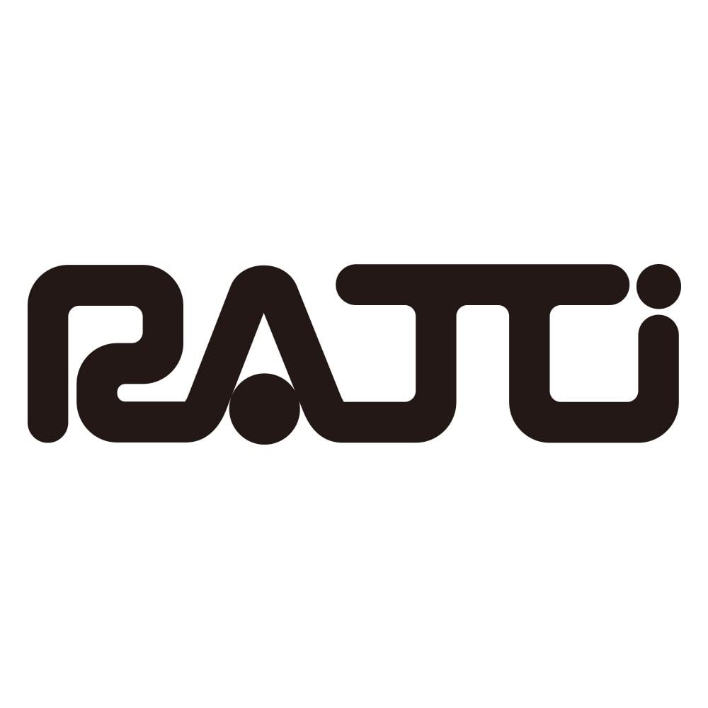 ラッティ社 変形ドットプリント タック使い ワンピース