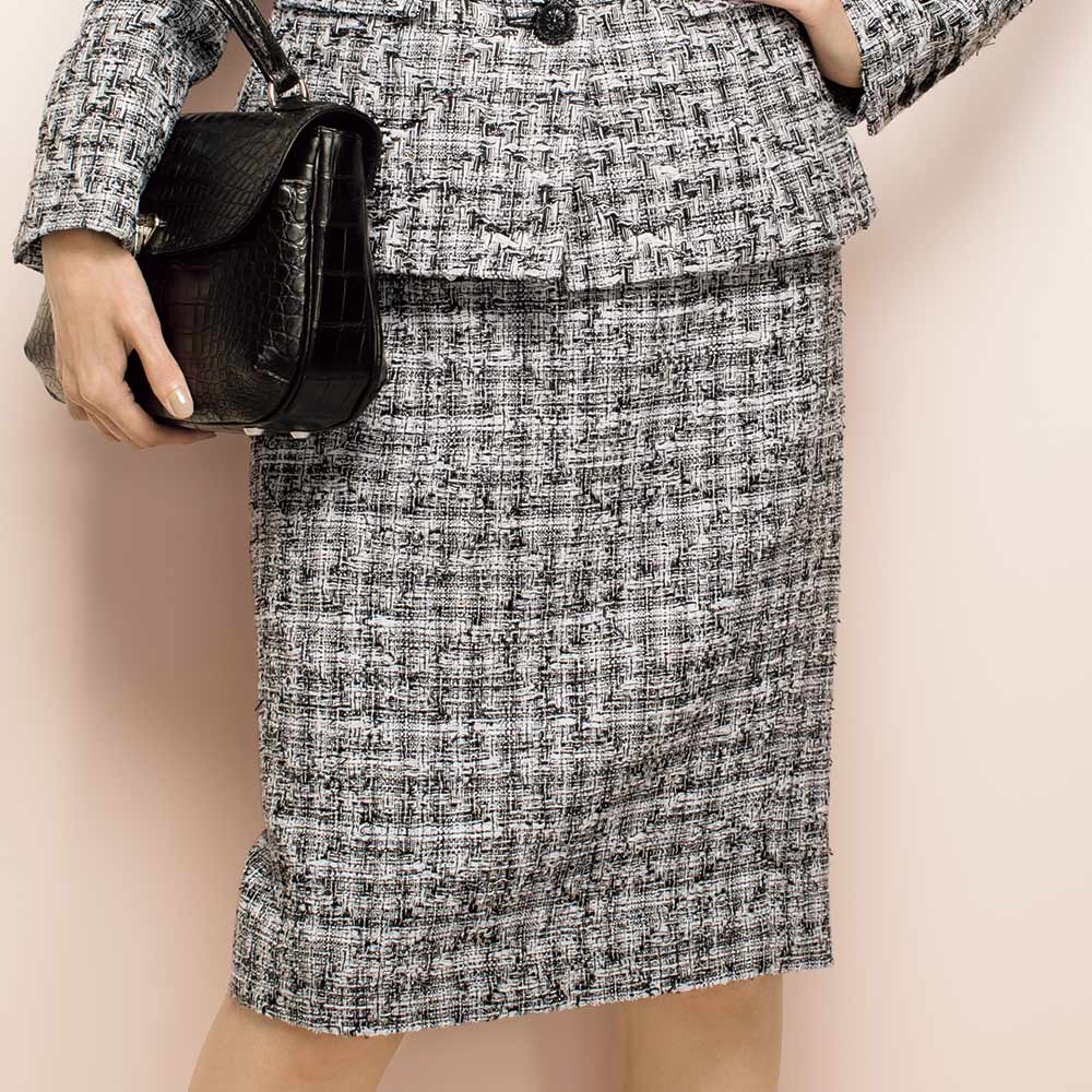マリア・ケント社 ファンシーツイード スカート 着用例