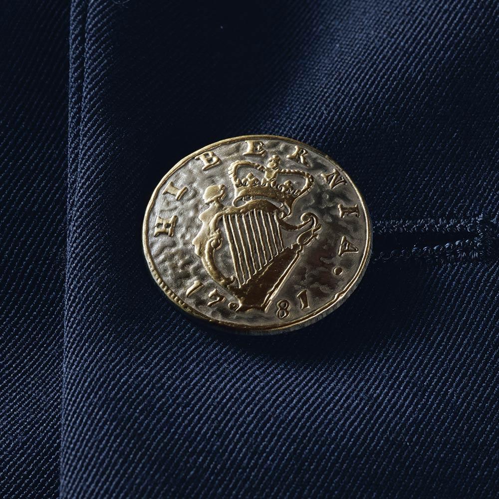 「NIKKE」 マフ ギャバジン ダブルブレスト ジャケット ボタン部分