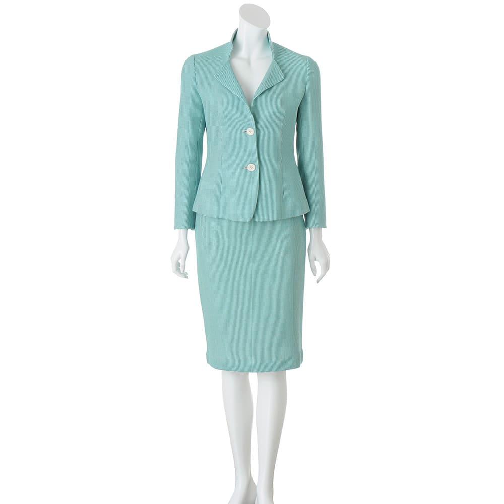 Faliero Sarti/ファリエロ サルティ からみ織り スーツセット(ジャケット+スカート)