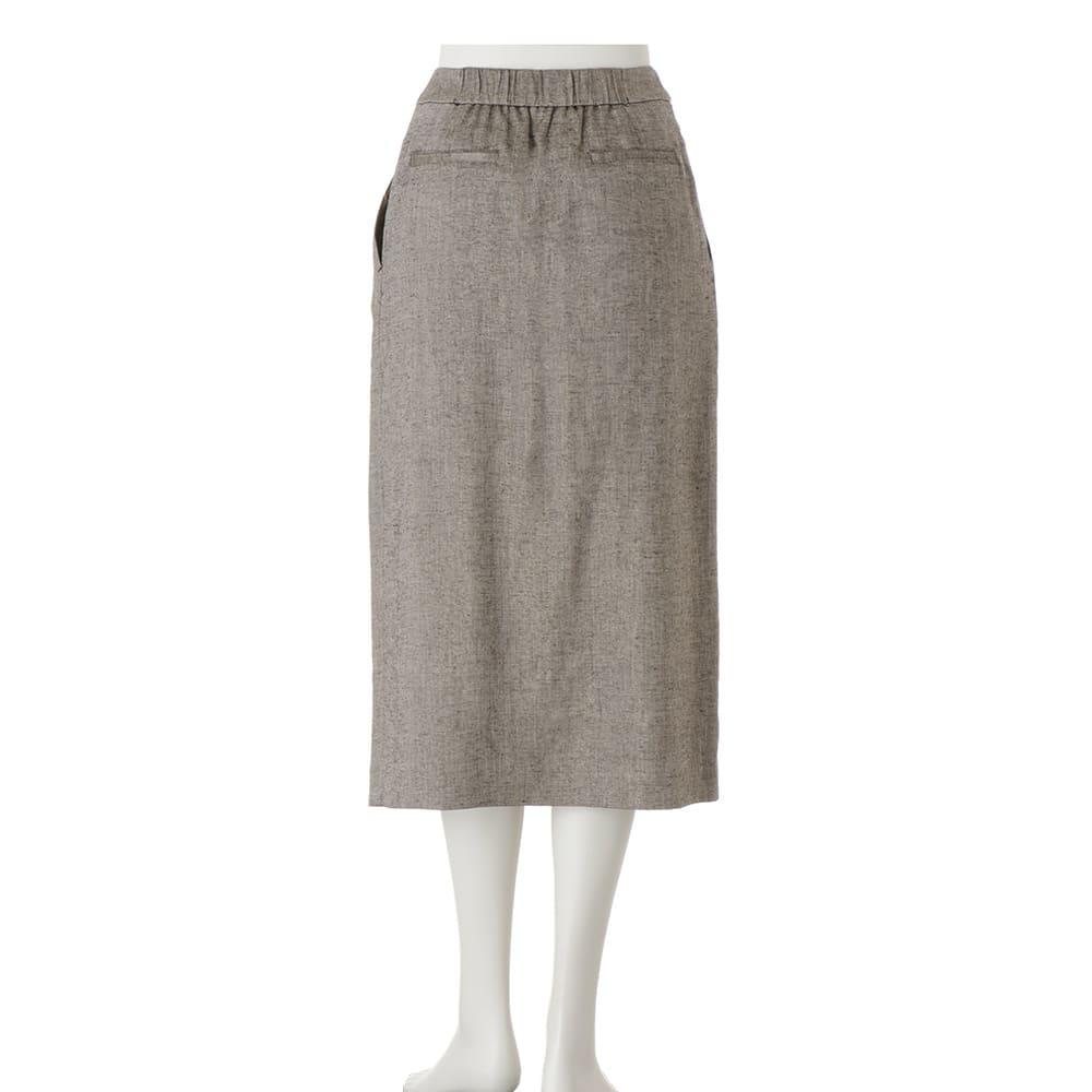 ラメ入り リネン混 ラップスカート