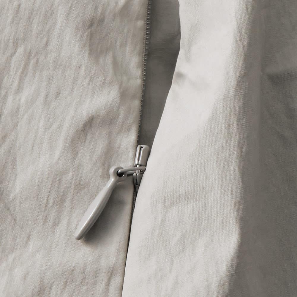 イタリア素材 撥水コーティング ロングコート ポケット部分
