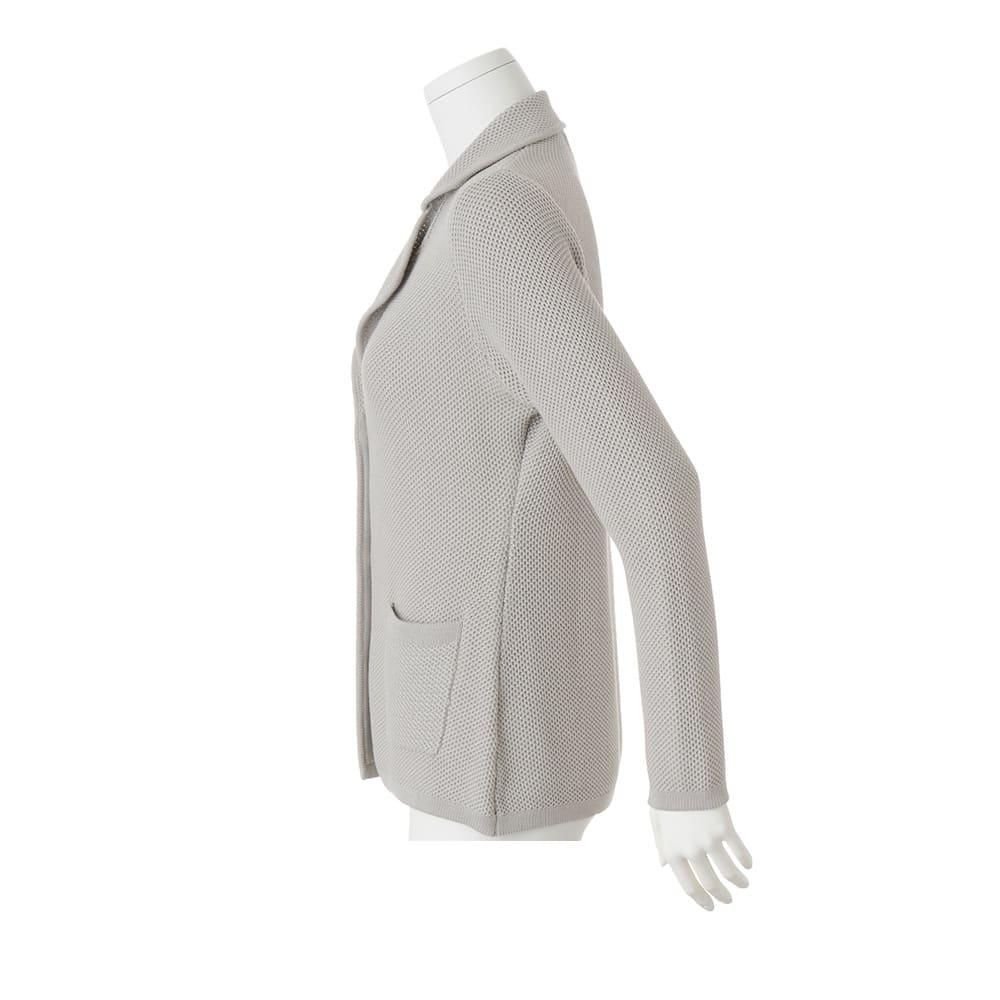 コットンシルク 鹿の子編み テーラードジャケット