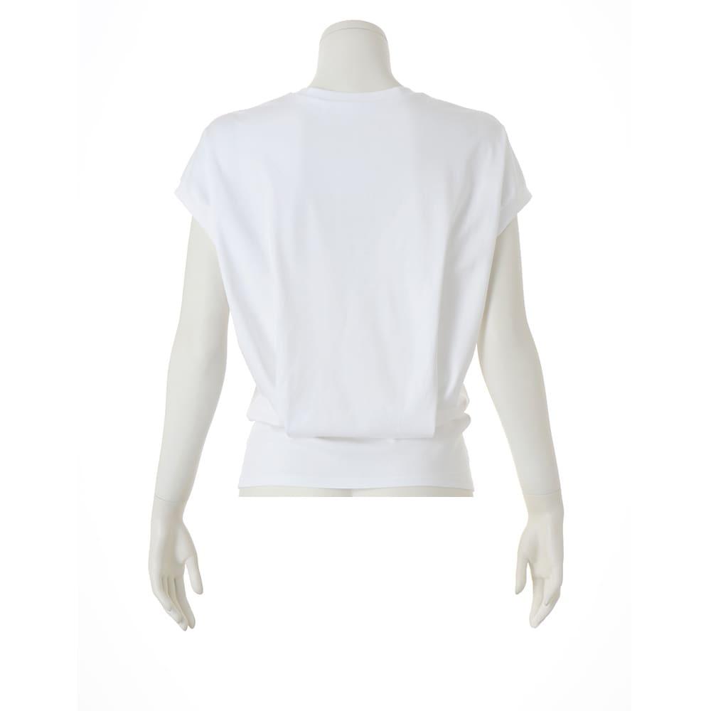 スビン綿 ポケット付き Tシャツ (ア)ホワイト