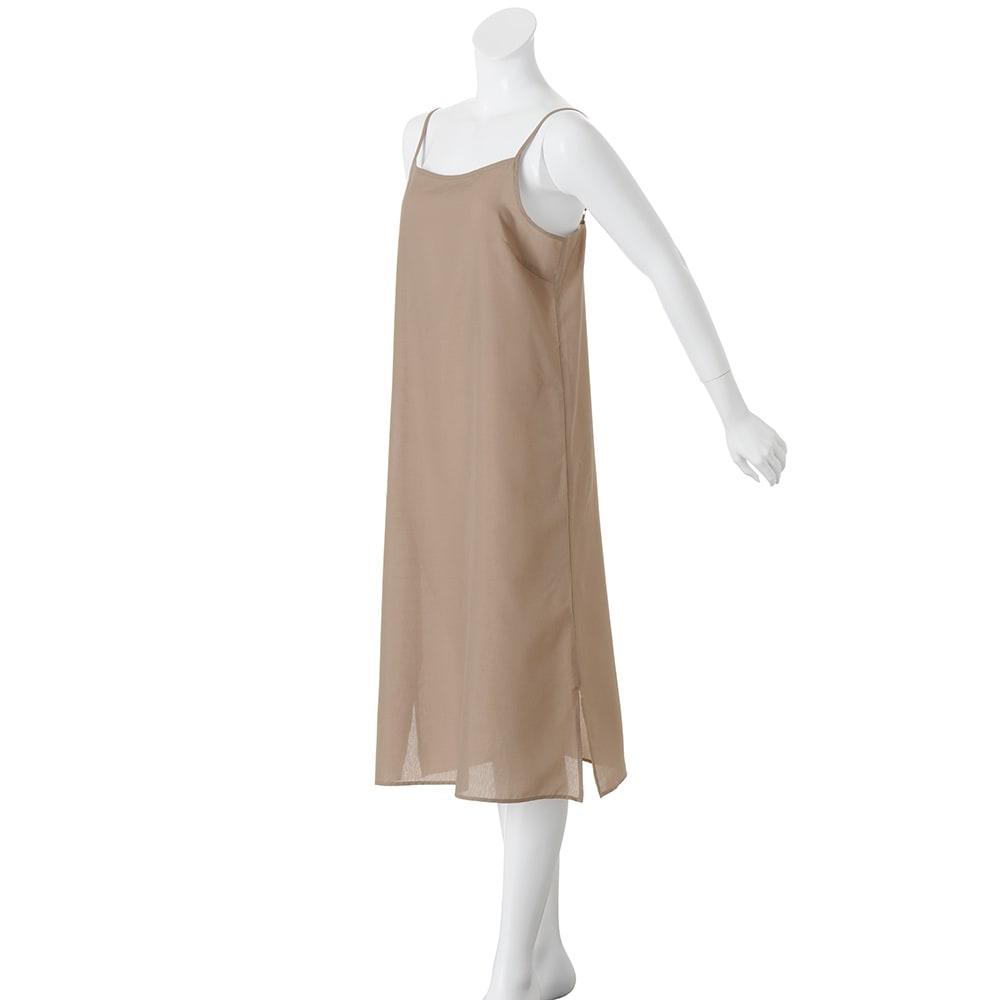 イタリア素材 プチレオパードプリント ワンピース インナードレス付き