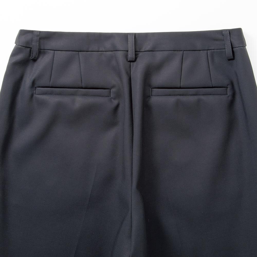 防シワ加工 コットンツイル ダブルクロスセットアップ(ジャケット+パンツ) パンツ BACK