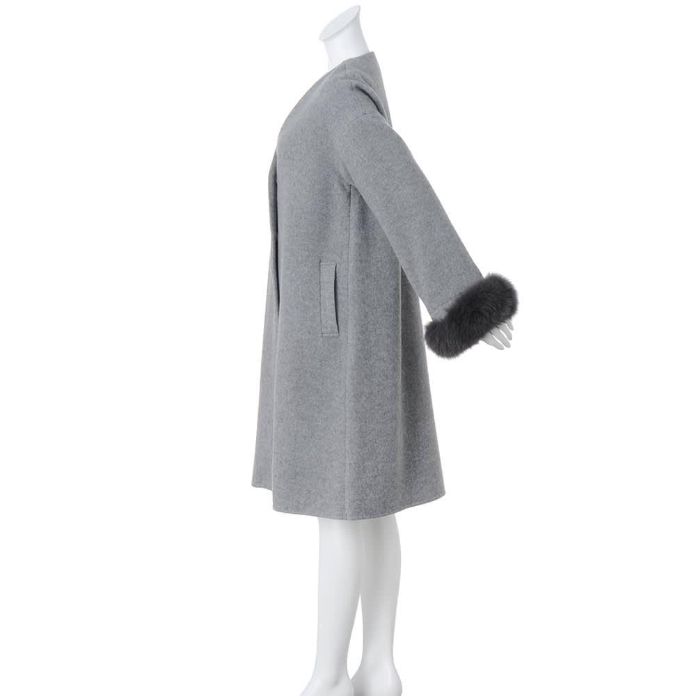 ブルーフォックスファー付き ライトコート