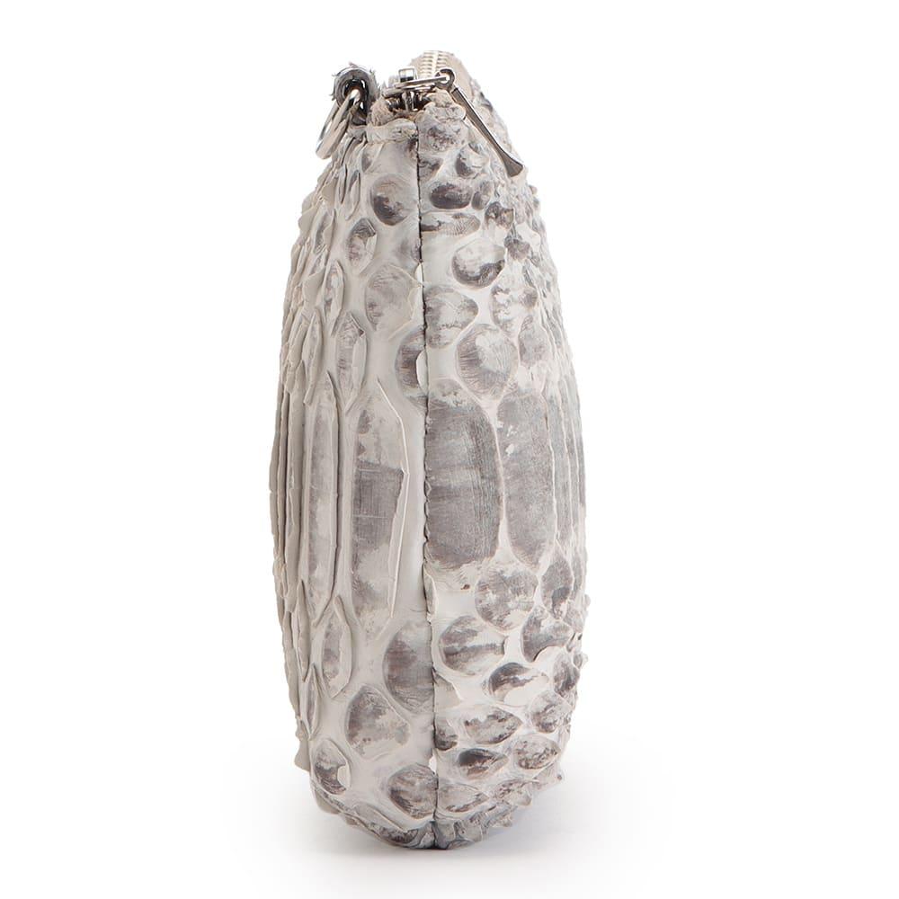 ダイヤモンドパイソン トートバッグ(ポーチ付き) ポーチ SIDE