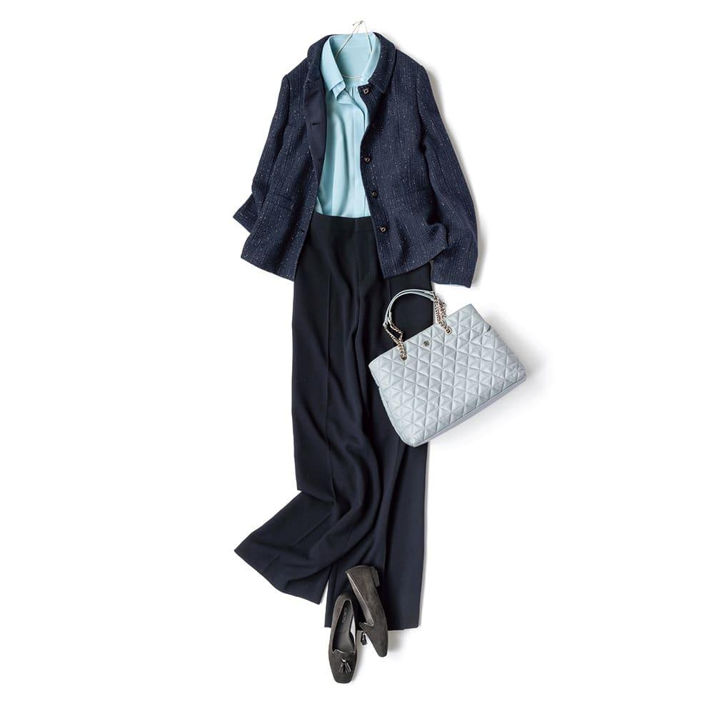 「NIKKE」 マフダブルジョーゼット スーツセット(ジャケット+パンツ) コーディネート例(パンツのみ)