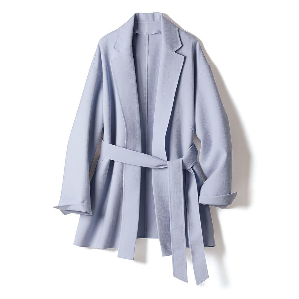 「NIKKE」 ウールダブルクレープ 2WAY ジャケット 襟付きで端正に