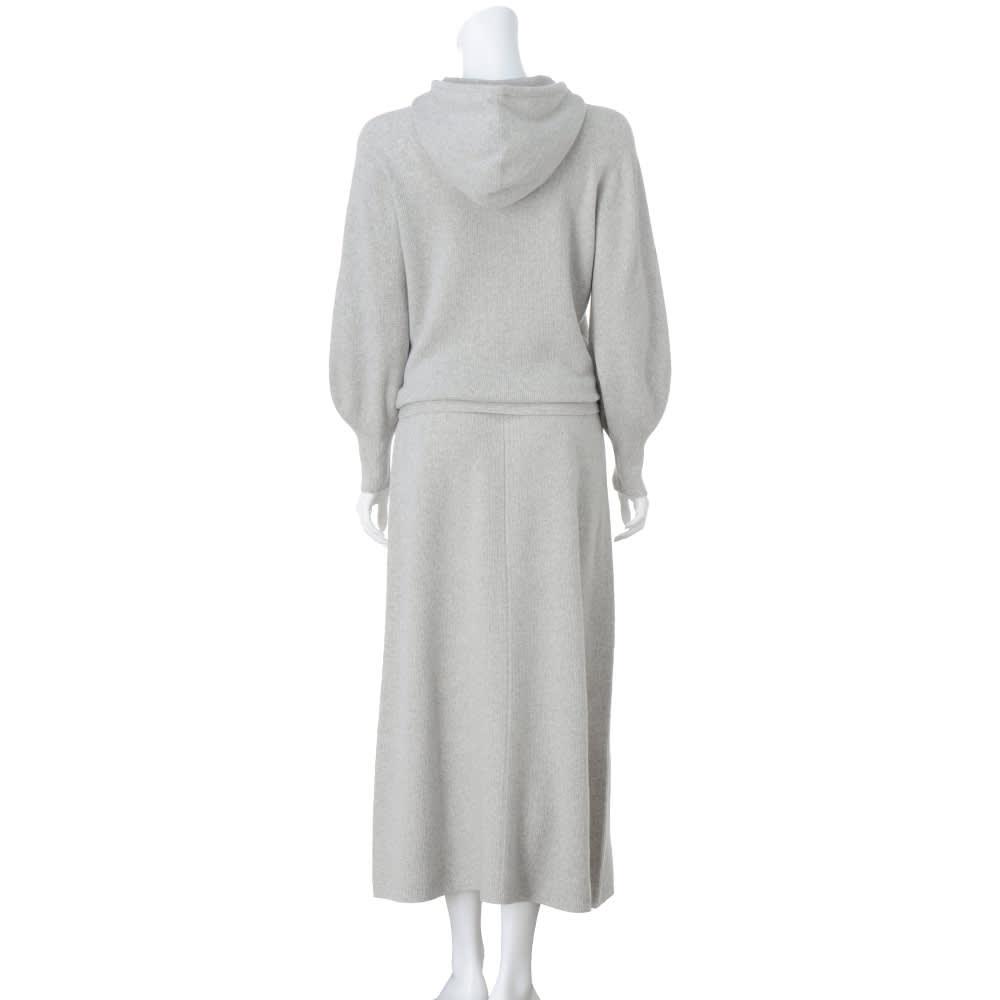 ワッフル編み ホールガーメント セットアップ (プルオーバー+スカート)