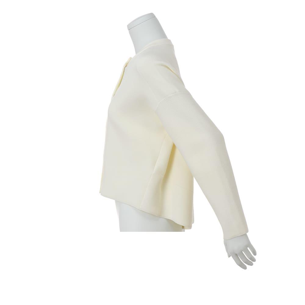 タック編み ニットジャケット