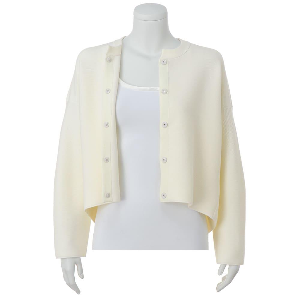タック編み ニットジャケット ※インナーは含まれません。