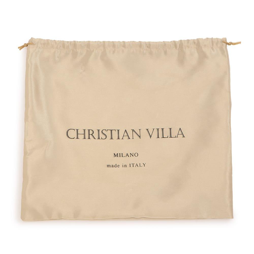 CHRISTIAN VILLA/クリスチャンヴィラ スクエア 2WAY バッグ(イタリア製) 付属袋付き(デザイン等、一部変更になる場合があります)