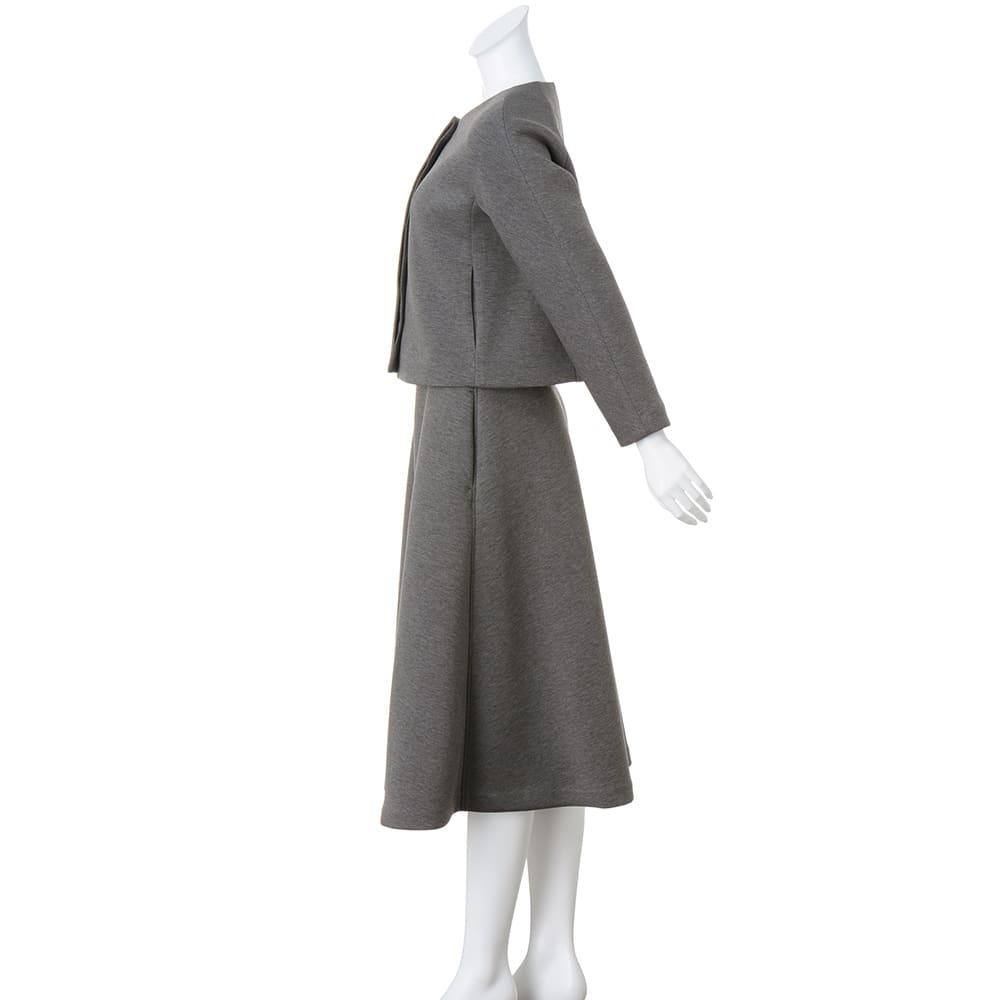 接結ジャージー セットアップ(ジャケット+スカート)