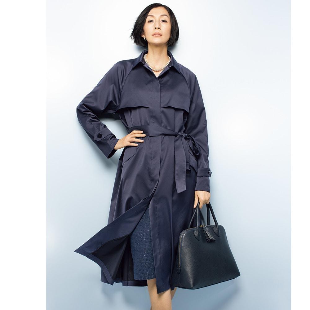 イタリア素材 ラメツイード スーツセット(ジャケット+スカート) コーディネート例(スカートのみ)