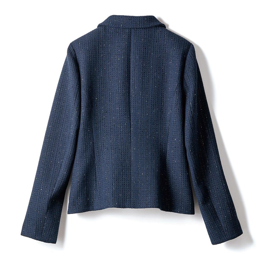 イタリア素材 ラメツイード スーツセット(ジャケット+スカート) ジャケット BACK